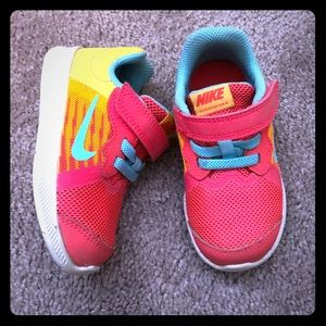 Colorful Toddler girl's Nike sneakers